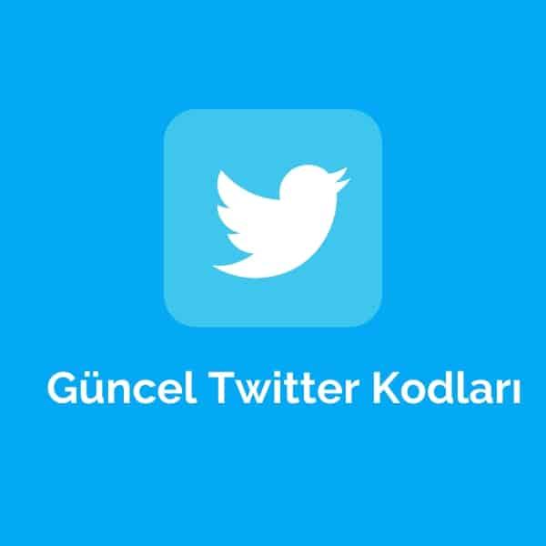 Güncel Twitter Kodları
